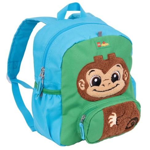"""LEGO DUPLO Block Monkey 12"""" Backpack - Blue - image 1 of 4"""