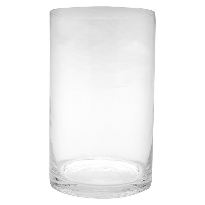 10 x6  Glass Cylinder Vase - Diamond Star