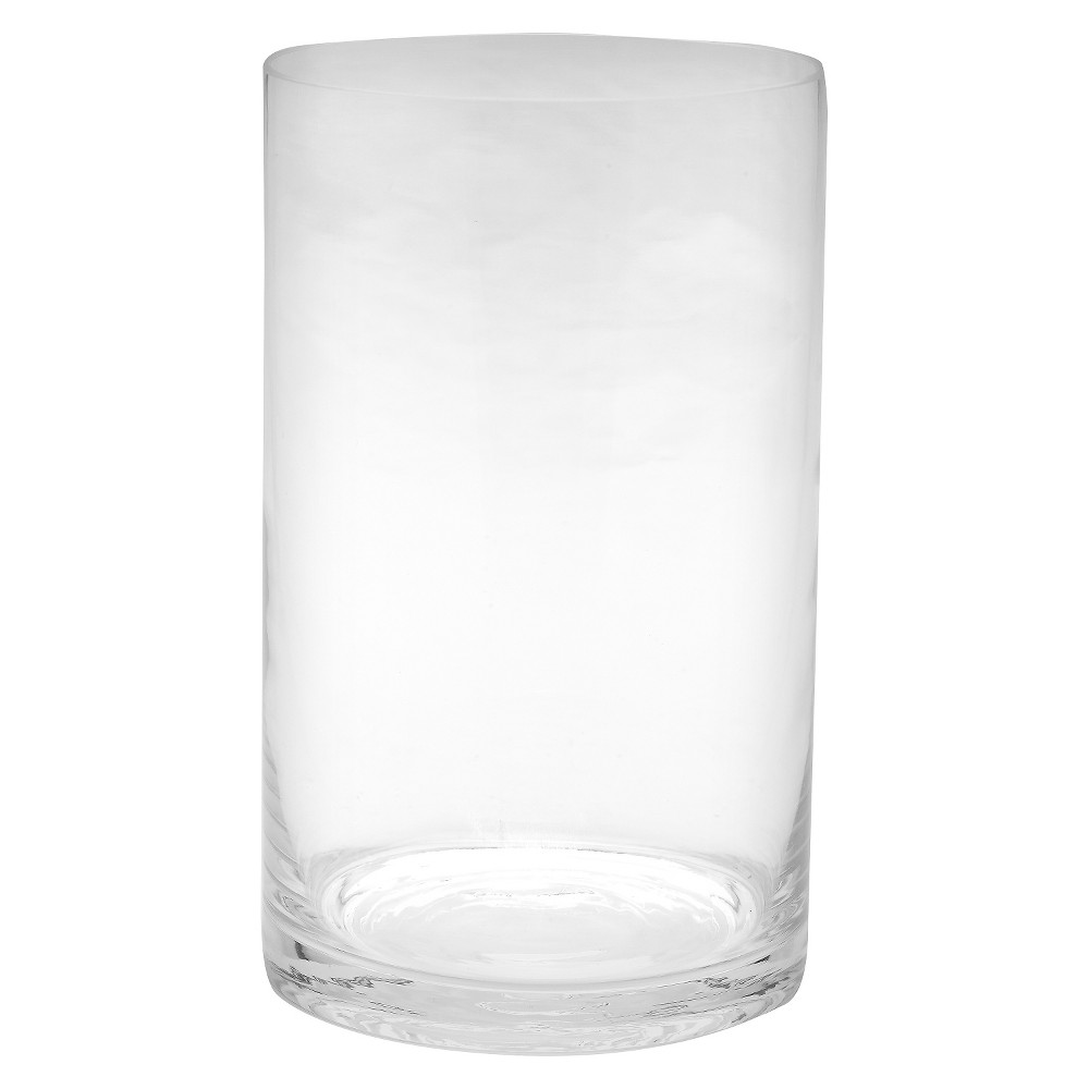 "Image of ""10""""x6"""" Glass Cylinder Vase - Diamond Star"""