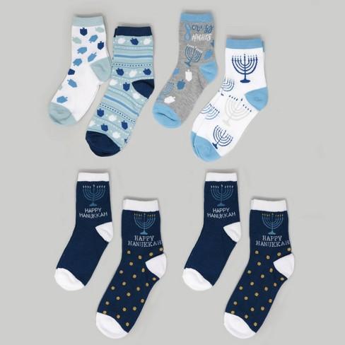 8pk Women's Hanukkah Socks Striped Size 9-11 - Bullseye's Playground™ - image 1 of 1
