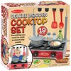 Melissa & Doug 17-Piece Deluxe Wooden Cooktop Set With Wooden Play Food, Durable Pot and Pan - image 2 of 3