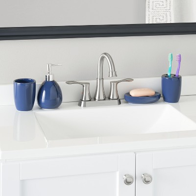 Home Basics 4 Piece Bath Accessory Set : Target