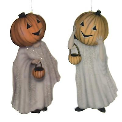 "Holiday Ornament 4.75"" Pumpkinhead Ghost Dummy Board Halloween  -  Tree Ornaments"