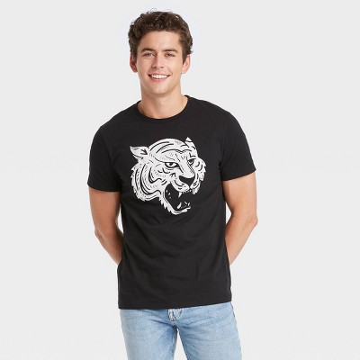 Men's Relaxed Fit Printed Short Sleeve Crewneck T-Shirt - Goodfellow & Co™ Black