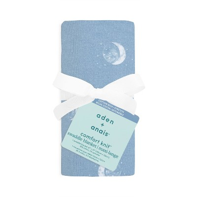 aden + anais Comfort Knit Swaddle Blanket Blue Moon