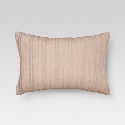 "Natural Washed Linen Oblong Throw Pillow (14""X20"") - Threshold™ - image 1 of 2"