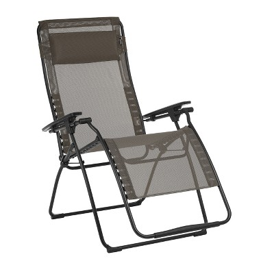 Lafuma LFM3121-8717 Futura Batyline XL Series Outdoor Relaxation Chair, Graphite