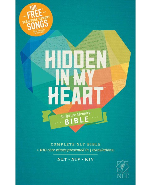 Hidden in My Heart Scripture Memory Bible : New Living Translation (Hardcover) - image 1 of 1