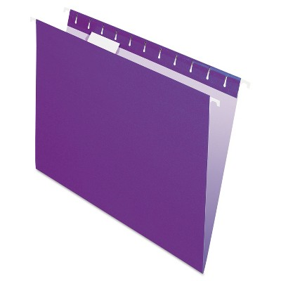Pendaflex Essentials Colored Hanging Folders 1/5 Tab Letter Violet 25/Box 81611