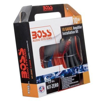 BOSS Audio Systems KIT-ZERO Car Audio Sound System 10 Gauge Amplifier Amp Wiring Installation Kit