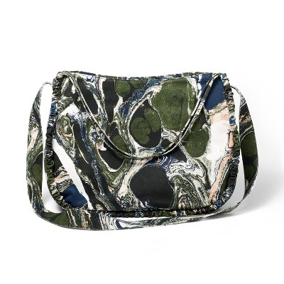 Marble Print Oversized Ruched Tote Bag - Rachel Comey x Target Green