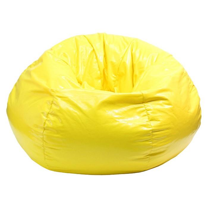 Medium Vinyl Bean Bag Chair - Yellow - Gold Medal - image 1 of 1