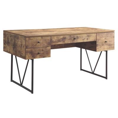 Coaster Home Furniture Barritt 4 Drawer Home Office Writing Desk, Antique Nutmeg : Target
