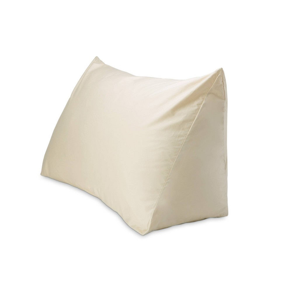 "Image of ""18"""" x 36"""" 330 Thread Count Reading Wedge Cover Natural - DownLite"""