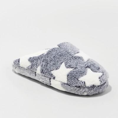 Women's Cordette Scuff Slipper - Xhilaration™ White/Grey S(5/6)
