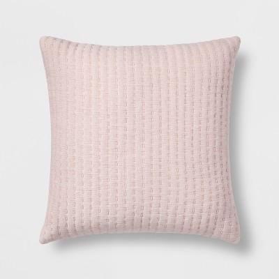 Pink Stripe Pattern Square Throw Pillow - Threshold™