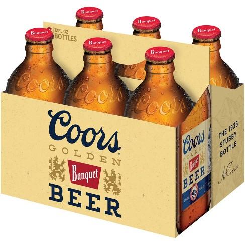 Coors Banquet Beer - 6pk/12 fl oz Bottles - image 1 of 2