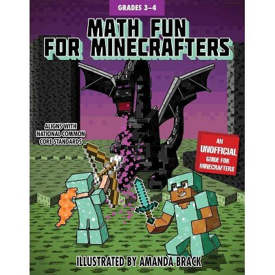 Math Fun for Minecrafters: Grades 3-4 - (Math for Minecrafters) (Paperback)