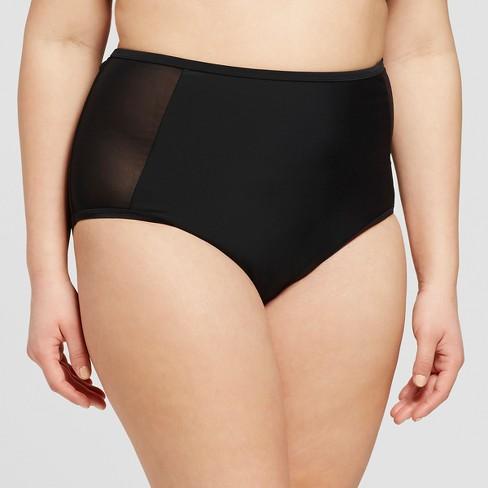 d507a7ae0f6 Women s Plus Size Mesh High Waist Bikini Bottom - Xhilaration™   Target