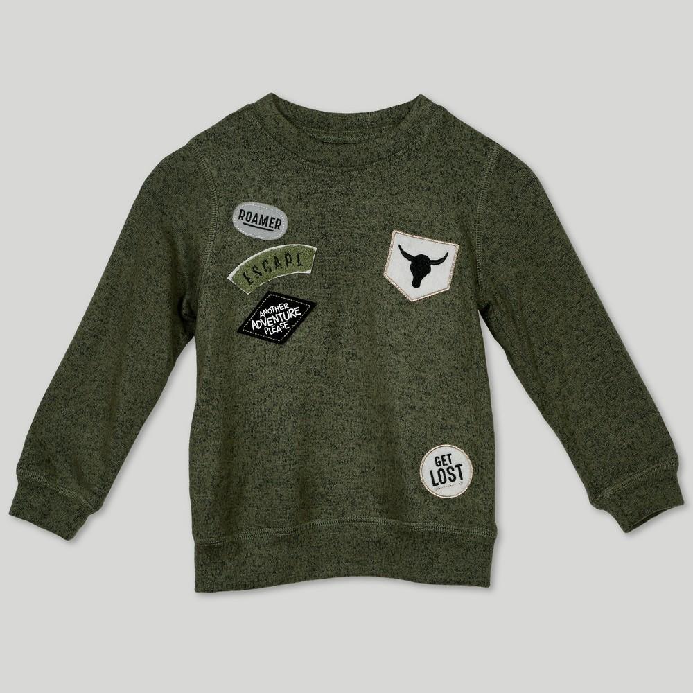 Image of Afton Street Toddler Boys' Hacci Sweatshirt - Green 12M, Boy's