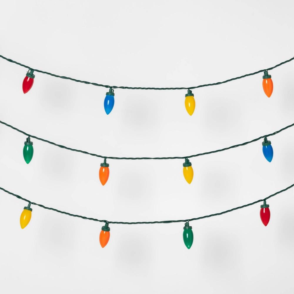 Image of 100ct LED C9 String Lights spool Ceramic Multicolor - Wondershop