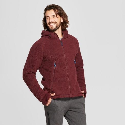 70fd97a66dd Men s Sherpa Lined Fleece Jacket - C9 Champion® Rich Maroon L   Target
