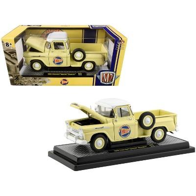 "1958 Chevrolet Apache Stepside Pickup Truck Rich Cream ""Holley"" Ltd Ed 5880 pcs 1/24 Diecast Model Car by M2 Machines"