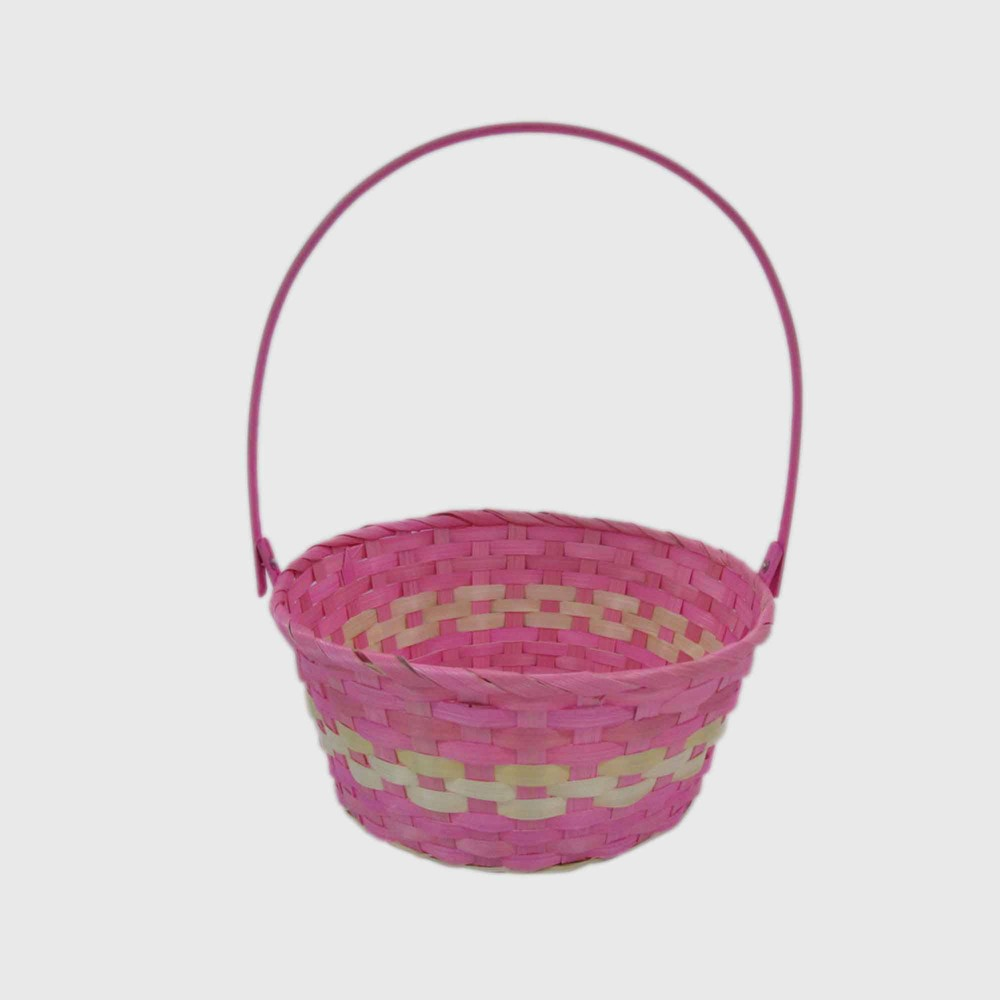 """Image of """"11"""""""" Bamboo Easter Basket Pink and Purple - Spritz"""""""