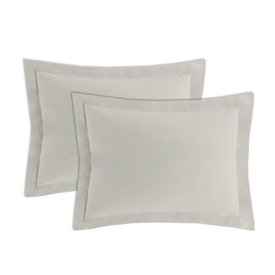 2pk Standard Tailored Poplin Sham Ivory - Fresh Ideas