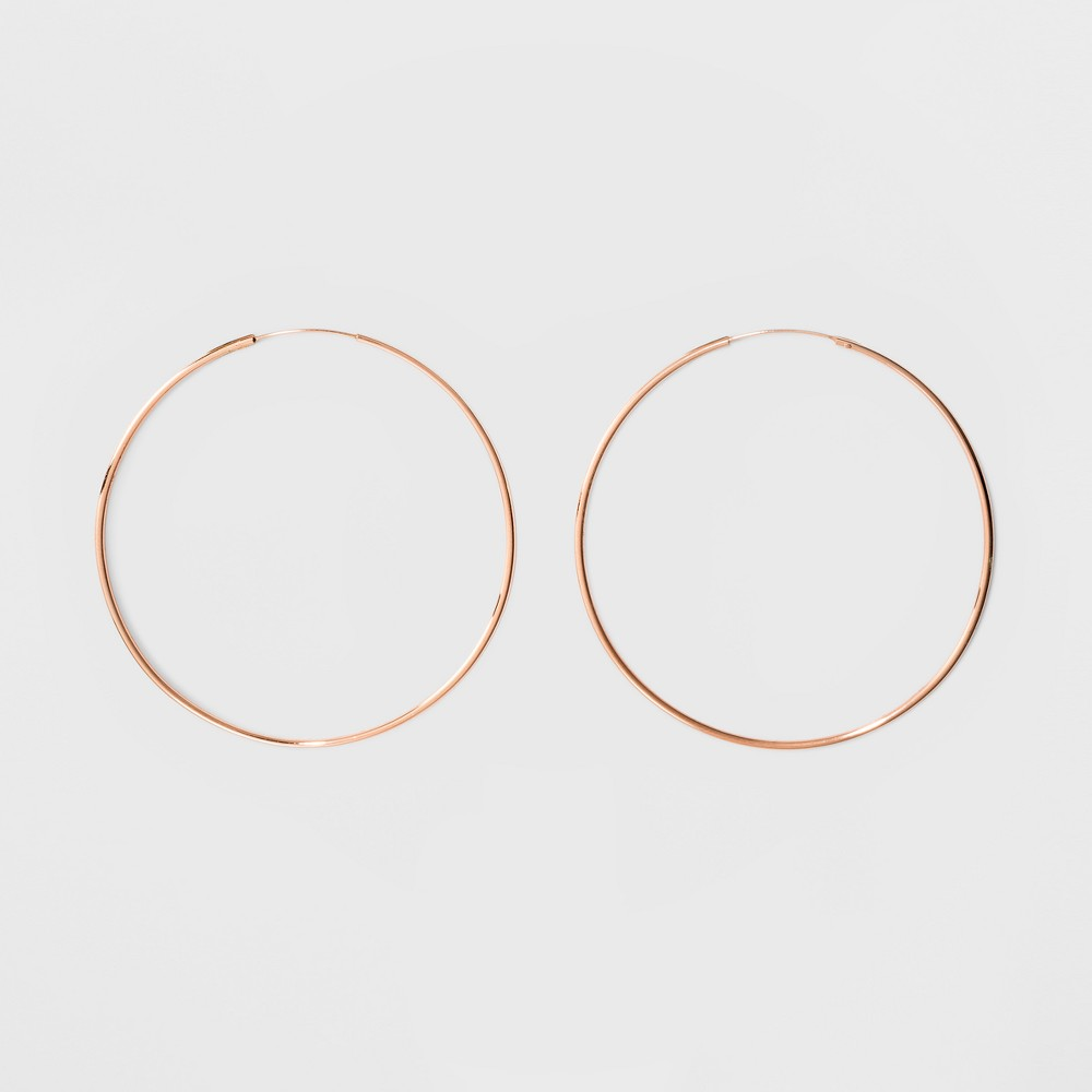 Rose Plated Large Endless Hoop Earrings 14kt - A New Day Rose