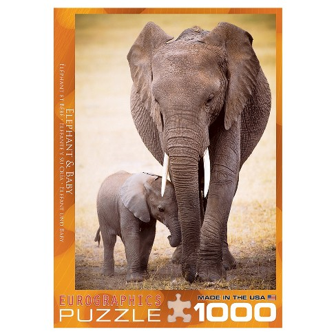 Elephant & Baby 1000pc Puzzle - image 1 of 1