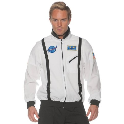 Adult Space Jacket White Halloween Costume One Size