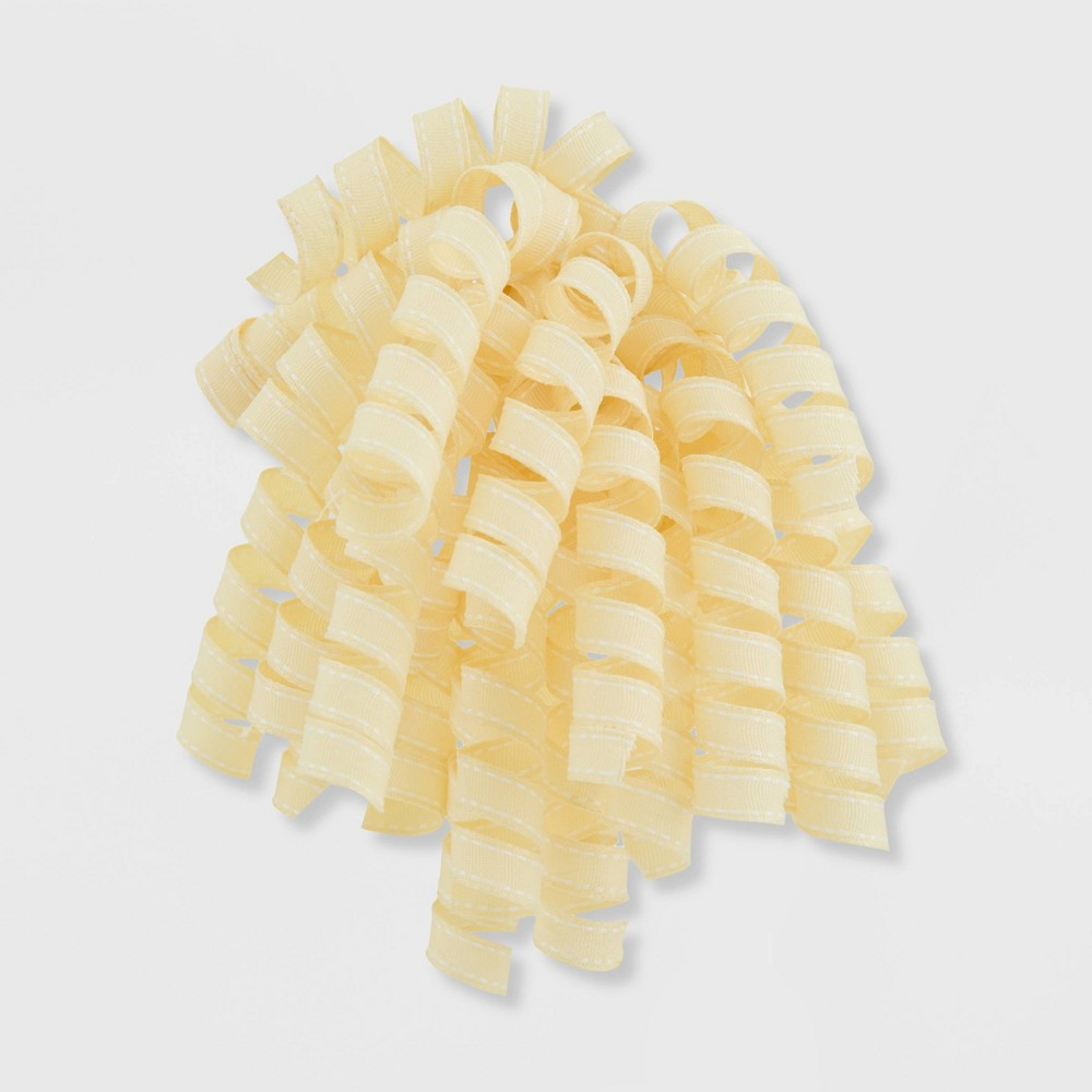 Image of Fabric Saddle Stitch Swirl Yellow - Spritz