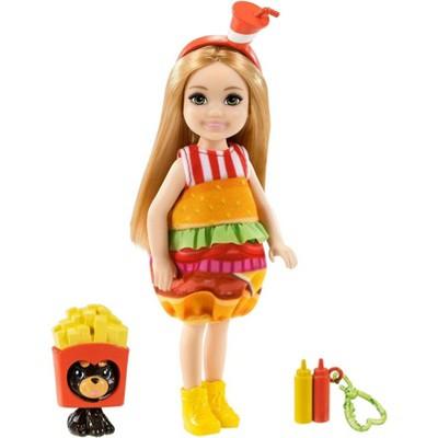 Barbie Club Chelsea Dress-Up Doll - Burger Costume