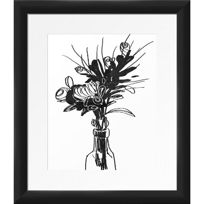 "13"" x 15"" Florlytical Framed Wall Art Black - PTM Images"