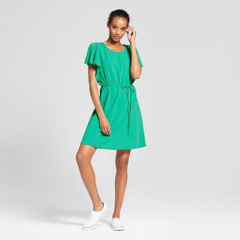 Women's Ponte Scallop Sleeve Dress - A New Day™ - image 1 of 3