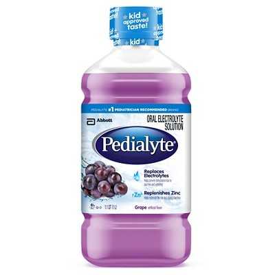 Pedialyte Oral Electrolyte Solution Grape 1 liter