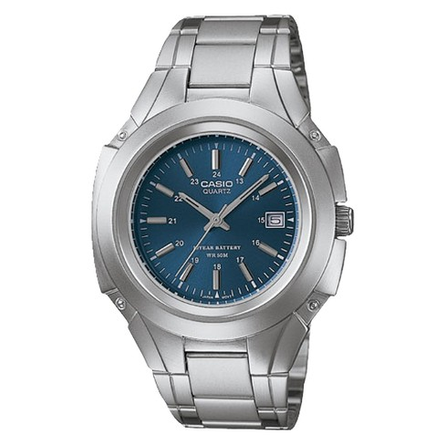 759982585 Casio Men's Classic Analog Dress Watch - Blue (MTP3050D-2AV) : Target