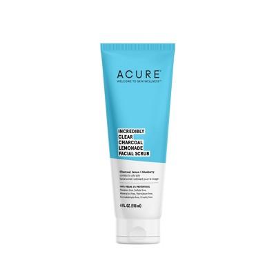 Acure Incredibly Clear Charcoal Lemonade Facial Scrub - 4 fl oz