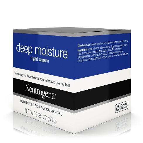16cb2789cc10 Neutrogena Deep Moisture Night Cream with Glycerin   Shea Butter 2.25oz