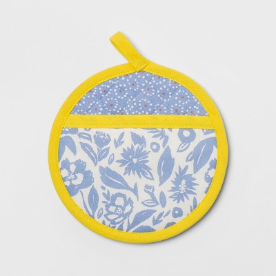 Floral Pot Holder Blue - Opalhouse™