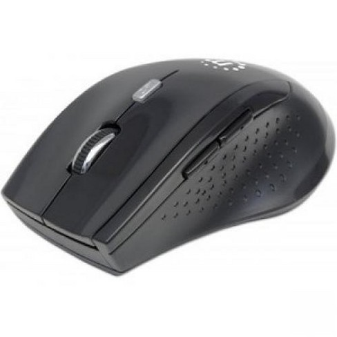 Manhattan Curve Wireless Optical Mouse - Optical - Wireless - Radio Frequency - Black - USB - 1600 dpi - Scroll Wheel - 5 Button(s) - image 1 of 1