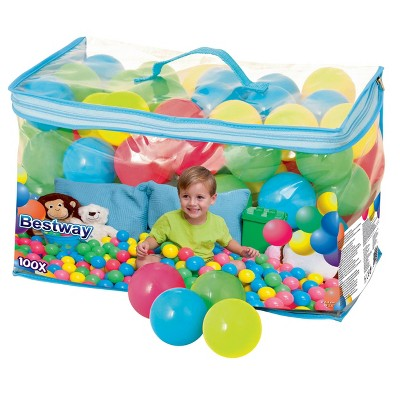 Bestway Fisher Price 93510E Small Plastic Multi-Colored Play Balls, 100 Count