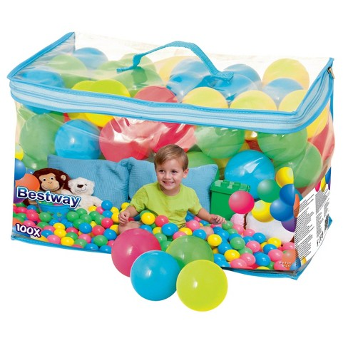 Bestway Fisher Price 93510E Small Plastic Multi-Colored Play Balls, 100 Count - image 1 of 4