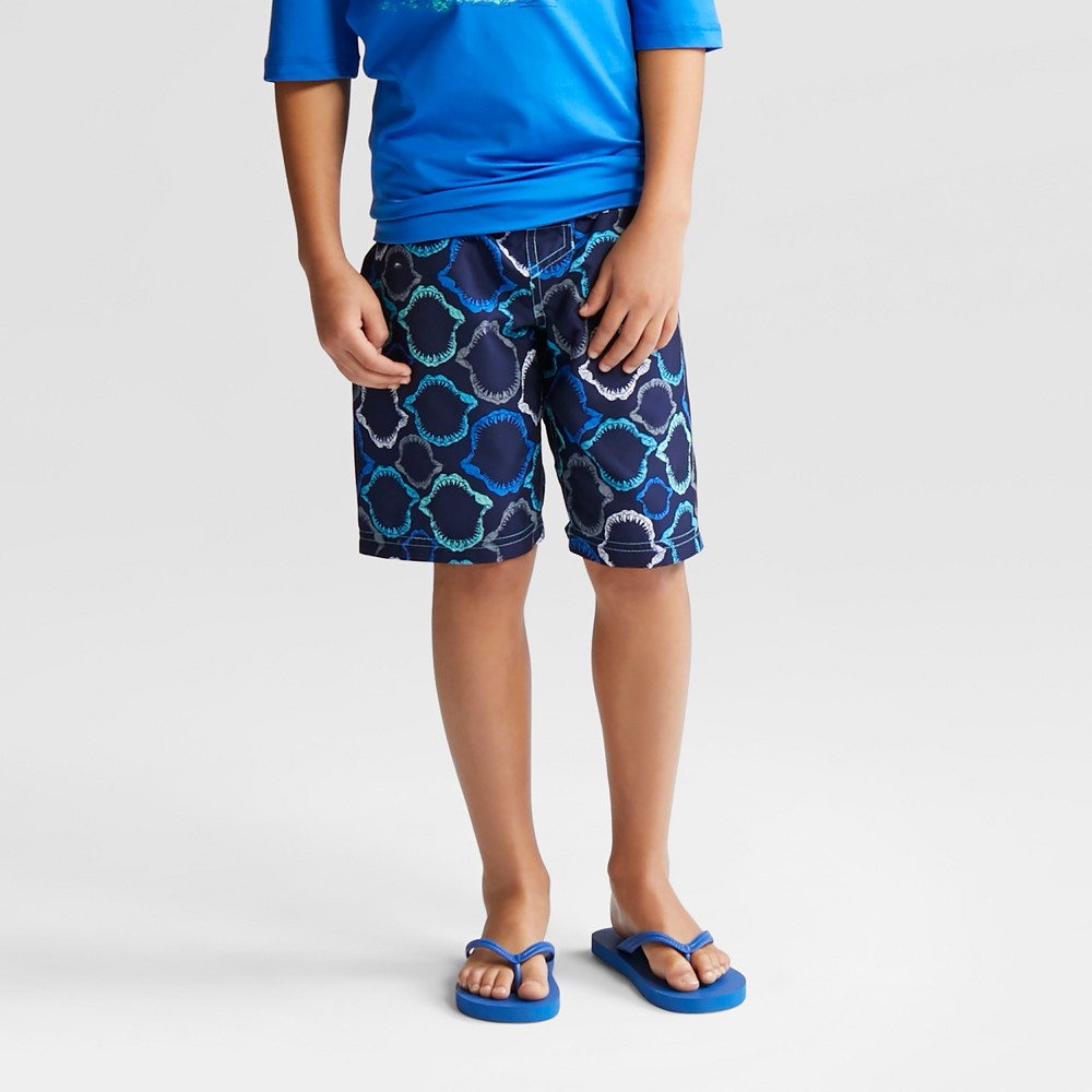 Boys' Shark Jaws Swim Trunks - Cat & Jack Blue M