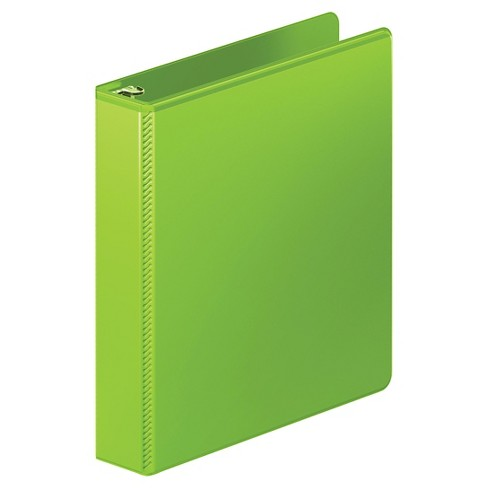 "Wilson Jones® Heavy-Duty D-Ring View Binder with Extra-Durable Hinge, 1 1/2"" Cap, Chartreuse - image 1 of 2"