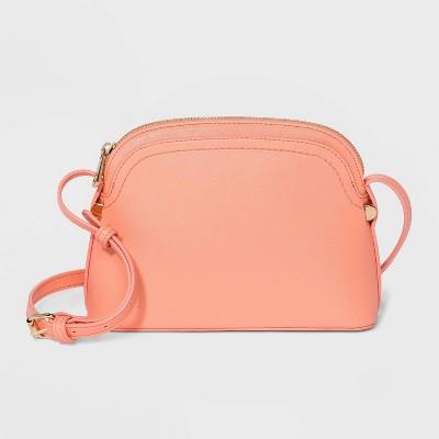Zip Closure Crossbody Bag - A New Day™ Coral