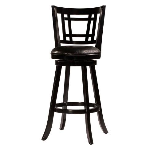 Fairfox 30 Swivel Bar Stool Black Hilale Furniture
