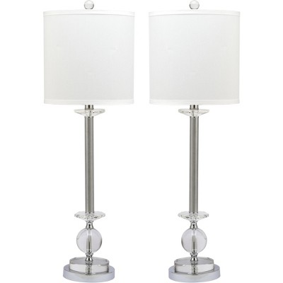 Marla Crystal Candlestick Lamp (Set of 2) - Clear - Safavieh