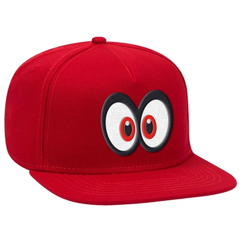 Super Mario: Cappy Eyes Brimmed Hat - Red/Red - image 1 of 1
